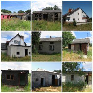 Wybrane budynki w Puszczy Kampinoskiej przeznaczone do rozbiórki