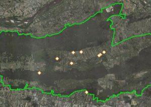 Lokalizacja miejsc w Kampinoskim Parku Narodowym przeznaczonych do rozbiórki
