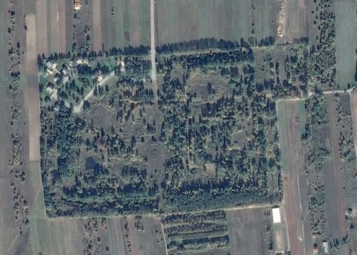 Zdjęcie satelitarne Oazy Kampinos (fot. Google Earth)
