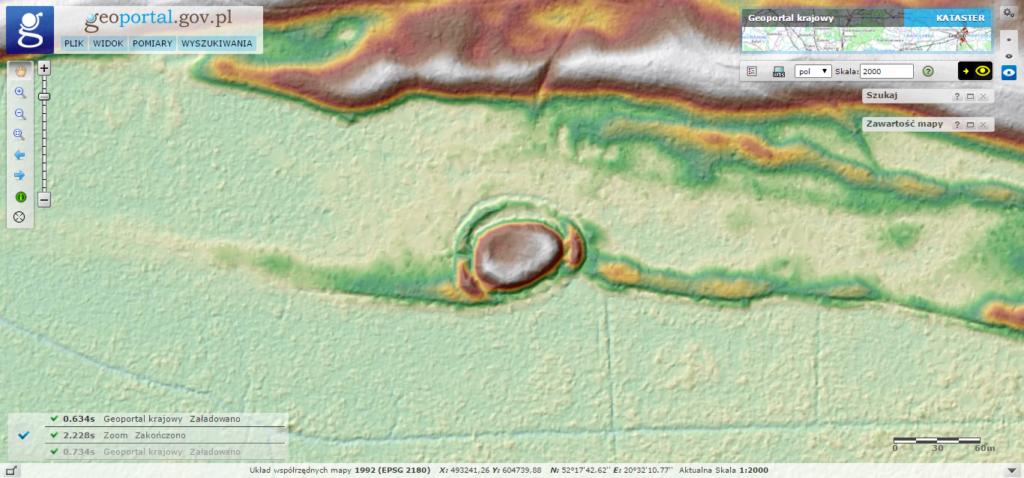 Model terenu okolic Zamczyska w Puszczy Kampinoskiej