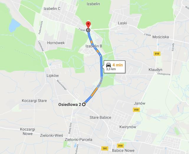 Remont drogi powiatowej Stare Babice - Izabelin