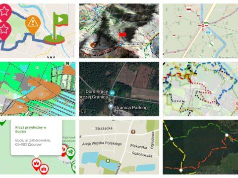 Cyfrowe mapy Puszczy Kampinoskiej