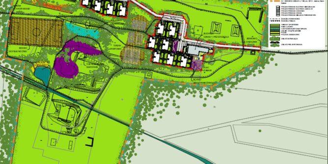 Projekt zabudowy działki 180 w Lesie Bemowskim