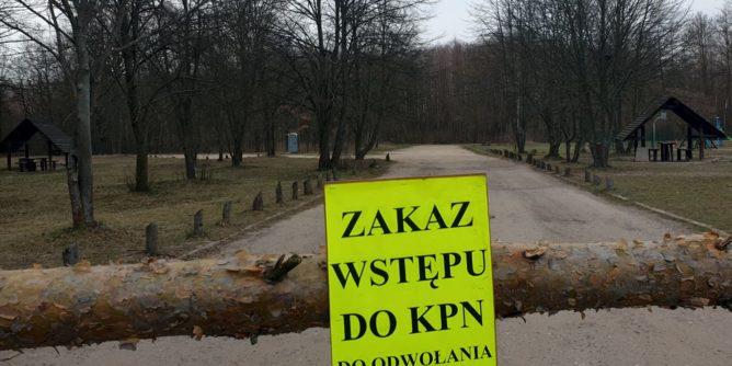 Zakaz wstępu do Kampinoskiego Parku Narodowego