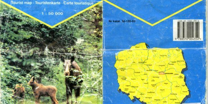 Mapa Kampinoskiego Parku Narodowego, PPWK, 1997